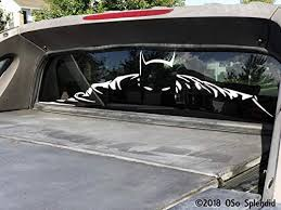 Amazon Com Byron Hoyle Rear Window Batman Truck Decal Car Window Sticker Home Kitchen