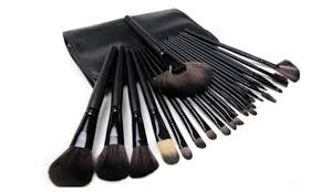 hollywood makeup brush 24 pcs set black