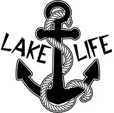 Lake Life Anchor With Rope Window Wall Decal Lake Home Cottage Etsy