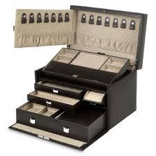 mirrored jewelry box travel case