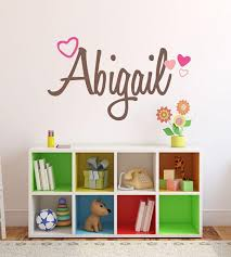 Buy Nursery Custom Name Hearts Wall Decal Sticker 50 W Girl Name Wall Decal Girls Name Wall Decor Personalized Girls Name Decor Girls Nursery Girls Bedroom Plus Free White Hello Door Decal