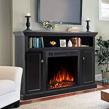 electric fireplace tv stand wood mantel