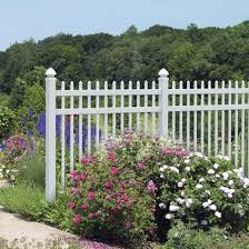 Veranda Manchester 6 Ft H X 6 Ft W White Vinyl Spaced Picket Fence Panel Unassembled 128008 The Home Depot