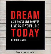 Lebron James Quote Basketball Wall Sticker Decal Mural Wallpaper Room Decoration 5 59 Picclick