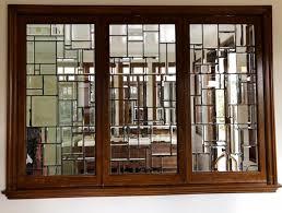 pivot casement beveled a leaded glass