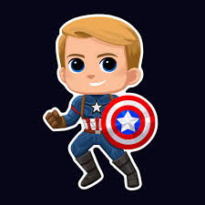 Vinyl Captain America Sticker Sold By Sarawalterart On Storenvy