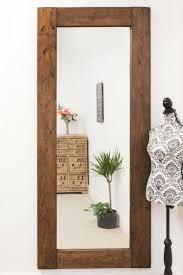 natural wood big wall mirror 6ft10