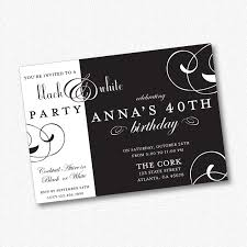 Black White Party Invitation Printable 21301 By Idconsultdesign