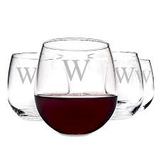 16 oz stemless red wine glasses