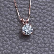 moissanite necklace 14k gold pendant