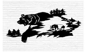 Grizzly Brown Black Bears Man Cave Animal Rustic Cabin Lodge Mountains