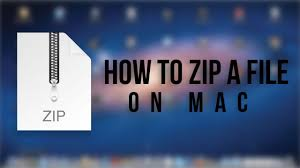 zip files on a mac by using command