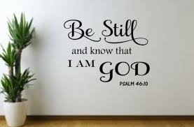 Wall Sticker Psalm 46 10 Be Still And Know That I Am God Bible Quote Vinyl Decal For Sale Online Ebay