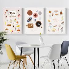 2020 Nordic Macaron Cake Coffee Posters And Prints Wall Art Picture Canvas Poster Bakery Kitchen Decor Home Decoration Painting From Zuihangyuan1 2 96 Dhgate Com