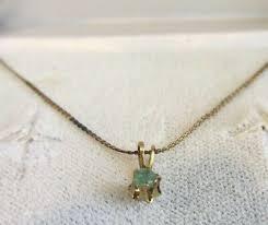 stone pendant flat thin necklace