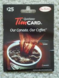 tim hortons 25 canadian gift card