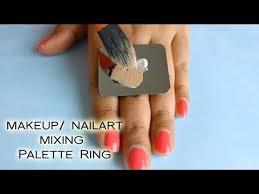 makeup nail art mixing palette ring