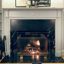 free standing glass fireplace screen