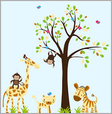 Baby Boy Nursery Decals Nursery Wall Decals Jungle Wall Sticker Nurserydecals4you