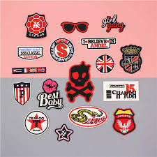 Skull Star Fabric Embroidered Patch Cap Clothes Stickers Bag Sew Iron On Applique Diy Apparel Sewing Clothing Accessories Bu174 Iron On Applique Iron Onembroidered Patch Aliexpress