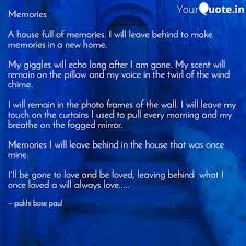 memories a house full of quotes writings by pakhi bose paul