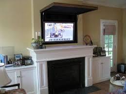 tv above fireplace ideas flat