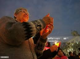 Women light candles in what was called as a Wednesday mourning.... News  Photo - Getty Images