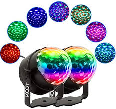 Amazon Com Party Lights Koot 2 Packs Disco Ball Sound Activated Disco Dance Lights With Remote Magic Led Dj Lights 7 Colors Mode Rgb Strobe Lights For Home Kids Room Christmas Party