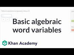 basic expressions with variables