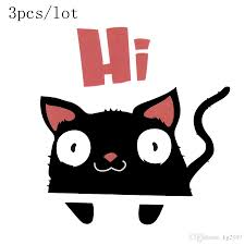 Funny Cat Vinyl Stickers Wall Poster Stickers Decals For Kids Rooms Home Decorations Wall Accents Decals Wall Accents Stickers From Kg2007 2 09 Dhgate Com