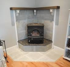 corner fireplace mantel makeover