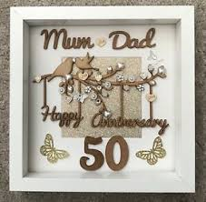 golden 50th wedding anniversary gift