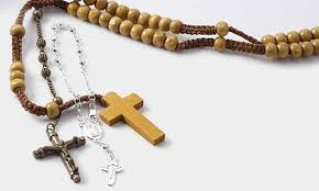 rosary beads and rosary parts fire