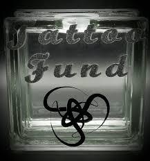 Tattoo Fund Decal Glass Block Piggy Bank Vinyl Decal Savings Black Silver Glitter Vinyl By Originsboutique On Etsy Glass Blocks Diy Glass Glitter Vinyl