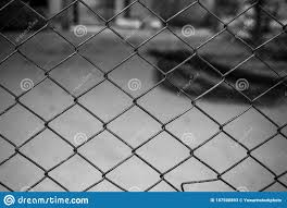 Decorative Wire Mesh Of Fence In The City Stock Image Image Of Danger Element 187500893
