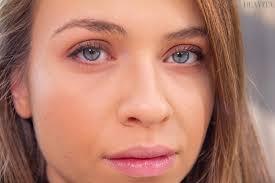 blue eyes and dark blond hair