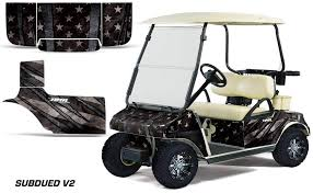 Amazon Com Amr Racing Golf Cart Graphics Kit Sticker Decal Compatible With Club Car 1983 2014 Subdued Flag V2 Automotive