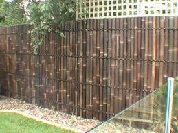 diy bamboo panel fence installation