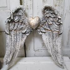 angel wings wall hanging shabby chic