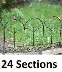 24 Panacea 89393 14 X 18 Black Metal Triple Stalk Garden Edge Border Fencing 93432893937 Ebay