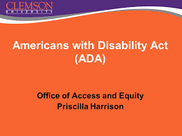 Office of Access and Equity Priscilla Harrison Americans with Disability  Act (ADA) - ppt download