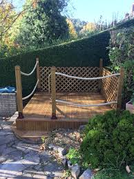 Garden Decking Area With Rope System Rope World