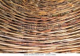 Organic Woven Willow Wicker Fence Panel Stock Photo Edit Now 1431173681