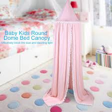 Best Deal F2e7 Cotton Baby Room Decoration Balls Mosquito Net Kids Bed Curtain Canopy Round Crib Netting Tent Photography Props Baldachin 245cm Cicig Co