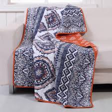 Greenland Home Fashions Medina Saffron Quilted Cotton Throw-GL-1510JTHR -  The Home Depot