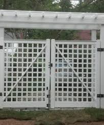 Vinyl Greenwich English Lattice Fence Atlas Outdoor Ct
