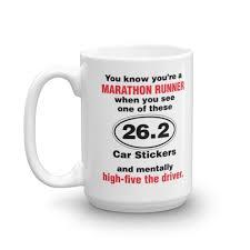26 2 Car Sticker Long Distance Marathon Running Coffee Tea Gift Mug 15oz Walmart Com Walmart Com