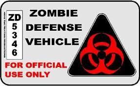 Amazon Com Zombie Defense Vehicle Decal Everything Else