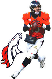 Amazon Com Peyton Manning Mini Fathead Broncos Logo Official Nfl Vinyl Wall Graphics 7 Inch Wall Decor Stickers Sports Outdoors