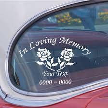 Roses Custom In Loving Memory Decal